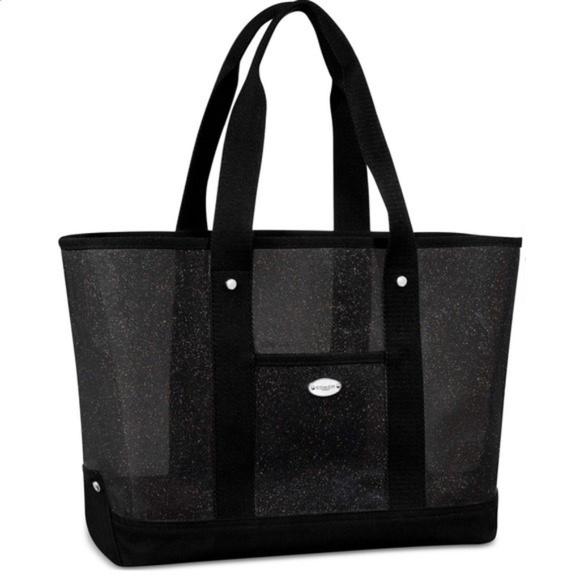 Coach Handbags - NWT COACH TOTE BAG BLACK SPARKLE PVC